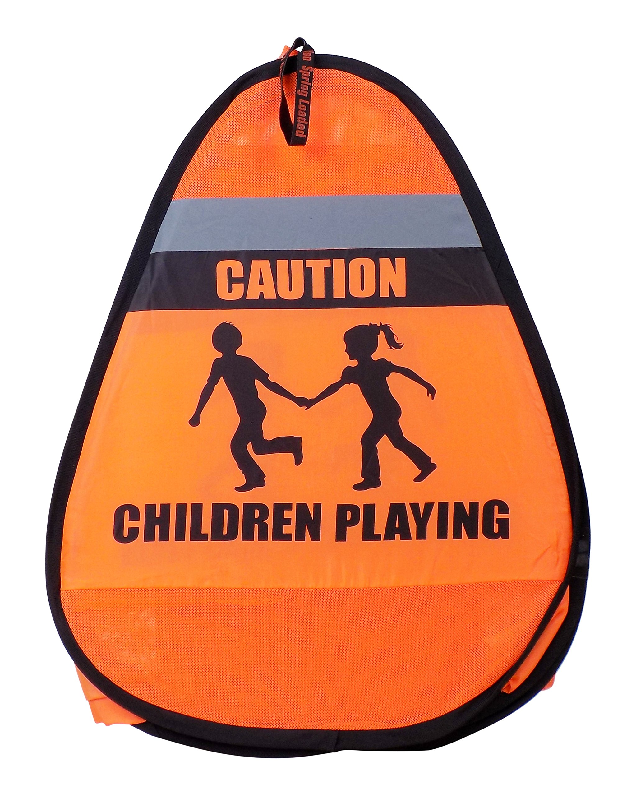 Children Playing Pop Up Orange Safety Cone Sign With Reflective Tape (2 Pack) by Novus (Image #4)