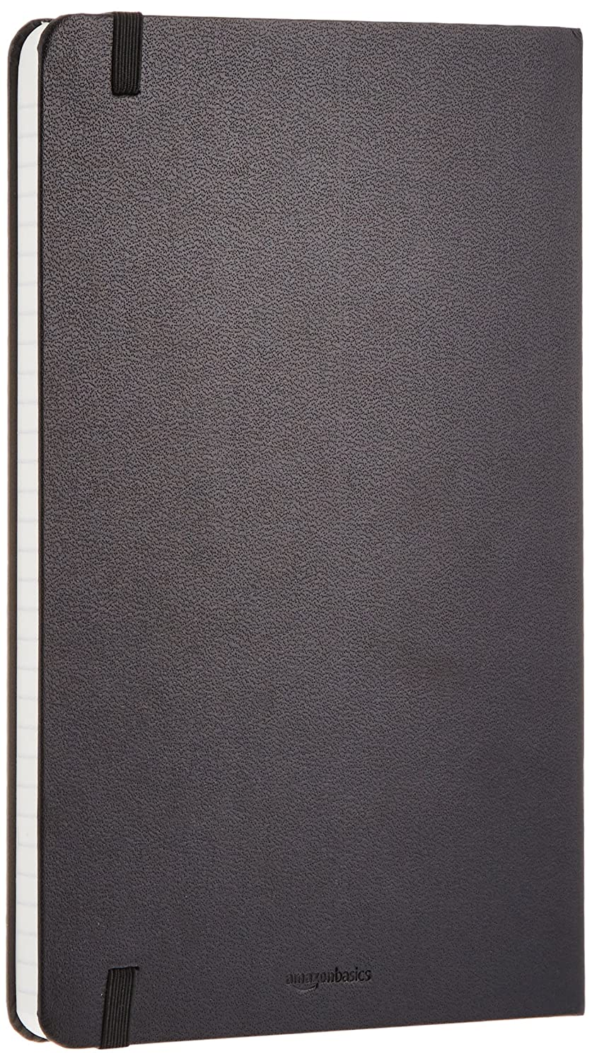 AmazonBasics Classic Lined Notebook 240 Pages Hardcover  Ruled