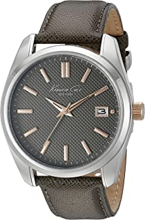 Kenneth Cole New York Mens 10024357 Classic Analog Display Japanese Quartz Grey Watch