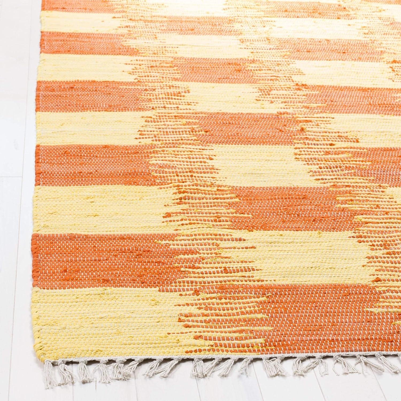 23 x 7 Safavieh Montauk Collection MTK721C Yellow and Orange Runner