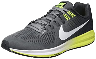 new arrival 8f5db 18dab Nike Men s Air Zoom Structure 21 Running Shoe Cool Grey White-Anthracite -Volt