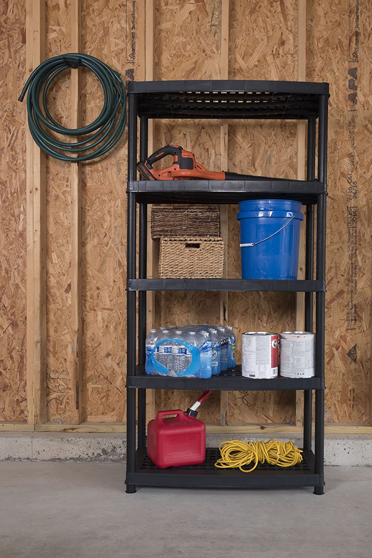 Keter 5-Tier 36 L x 18 W x 72 H Utility Plastic Freestanding Ventilated Shelving Unit