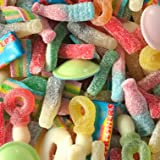 """Mixed Fizzy Sweets 1kg, """"Calum's Mixes"""", Includes Fizzy Cola Bottles, Rainbow Bites, Bubblegum Bottles, Sour Strawberry Pencils, Refreshers, Flying Saucers and Lots More!"""