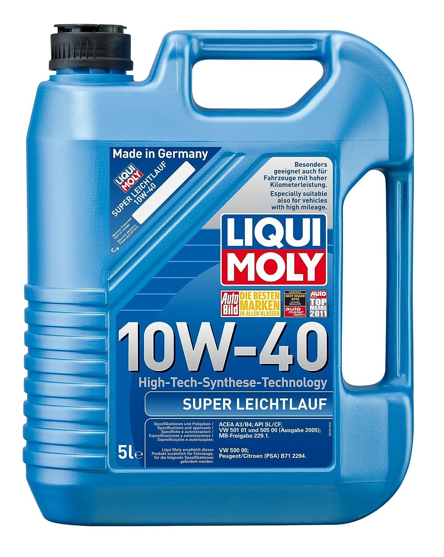 Liqui Moly 1301 Super Leichtlauf 10W-40 - Aceite para motores de automóviles de 4 tiempos (5 L): Amazon.es: Coche y moto