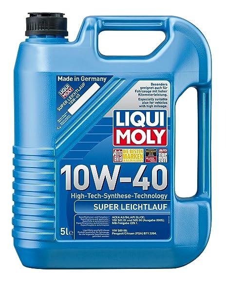 Liqui Moly 1301 Super Leichtlauf 10W-40 - Aceite para motores de automóviles de 4