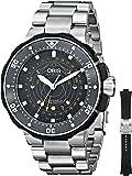 Oris Men's 76176827134SET Moon Pointer Analog Display Swiss Automatic Silver Watch