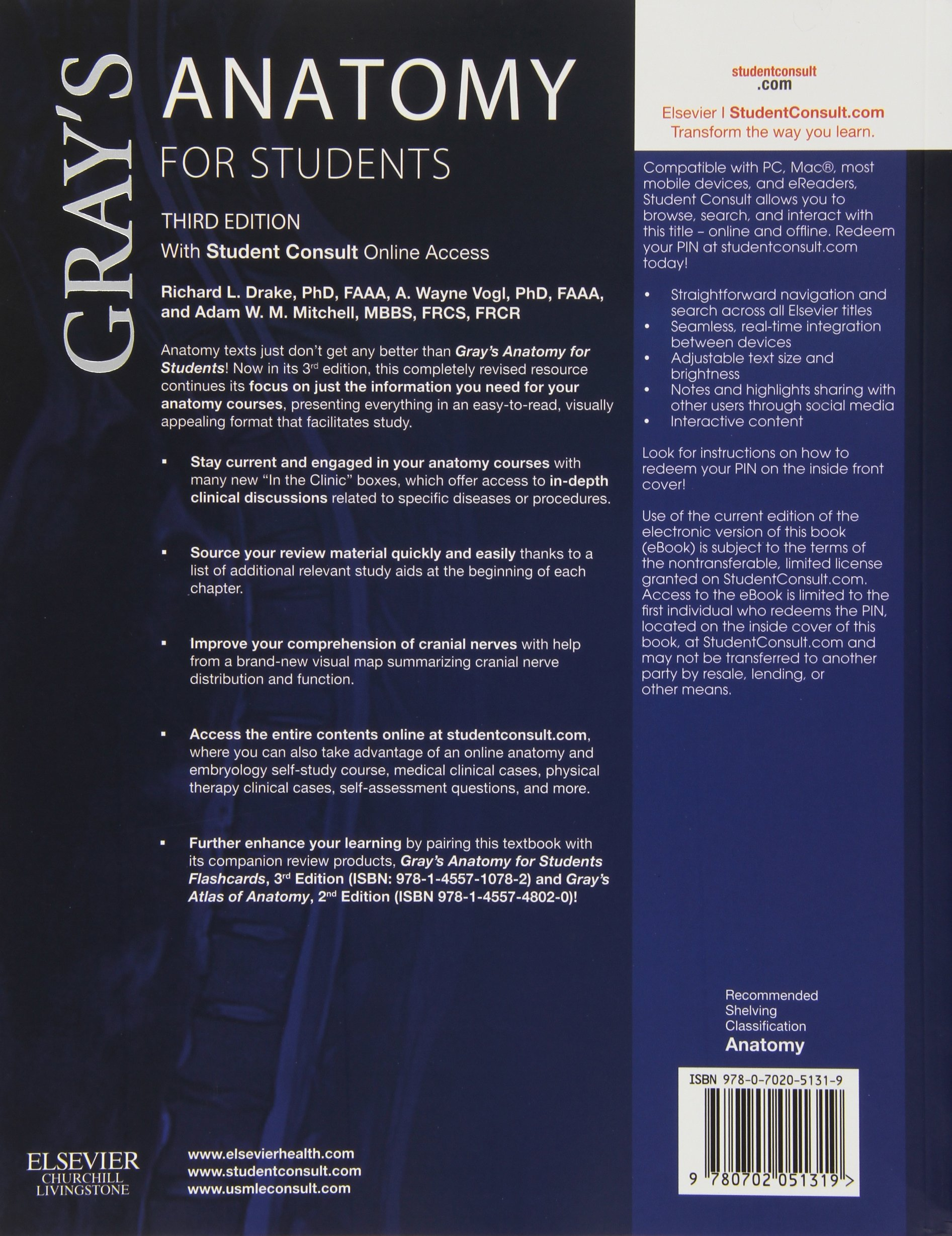 Buy Gray\'s Anatomy for Students: With Student Consult Online Access ...