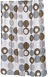Carnation Home Fashions SC-FAB/ST/MDN Madison Stall Size Fabric Shower Curtain, Multi
