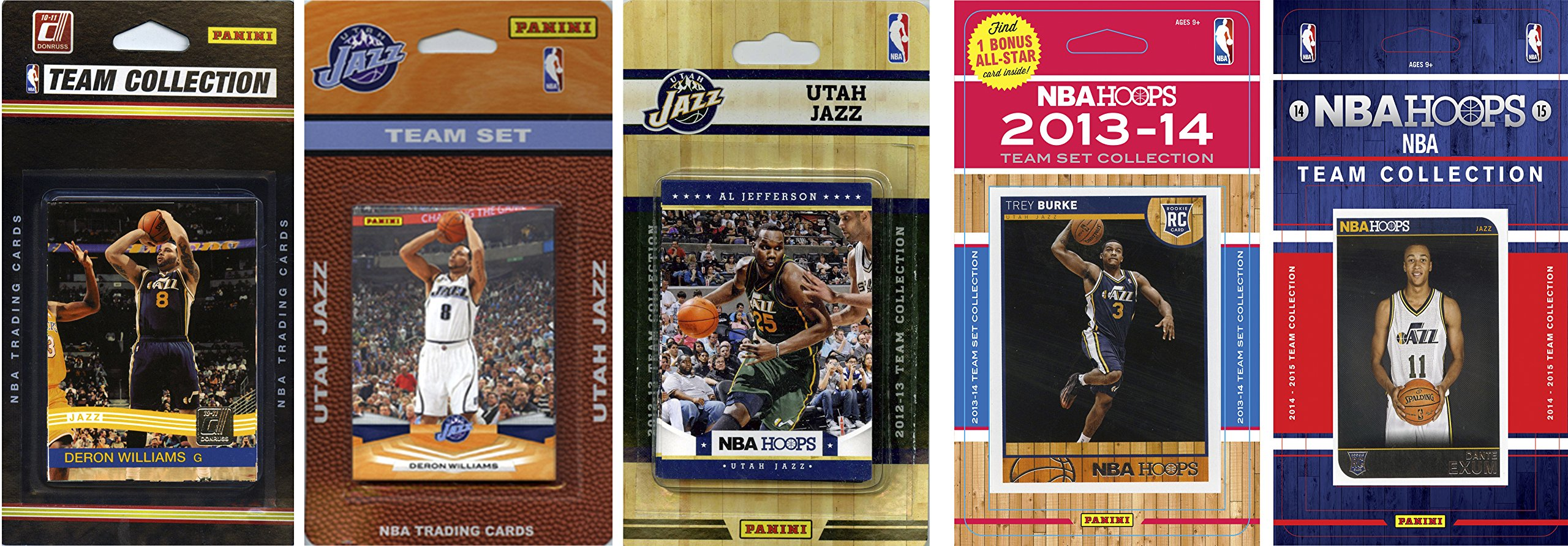 NBA Utah Jazz 5 Different Licensed Trading Card Team Sets, Brown, One Size