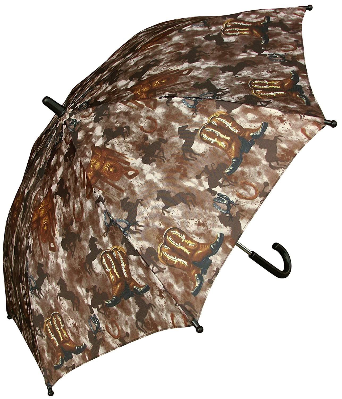 RainStoppers W104 Kid's Western Print Arc Umbrella, Multi, 32