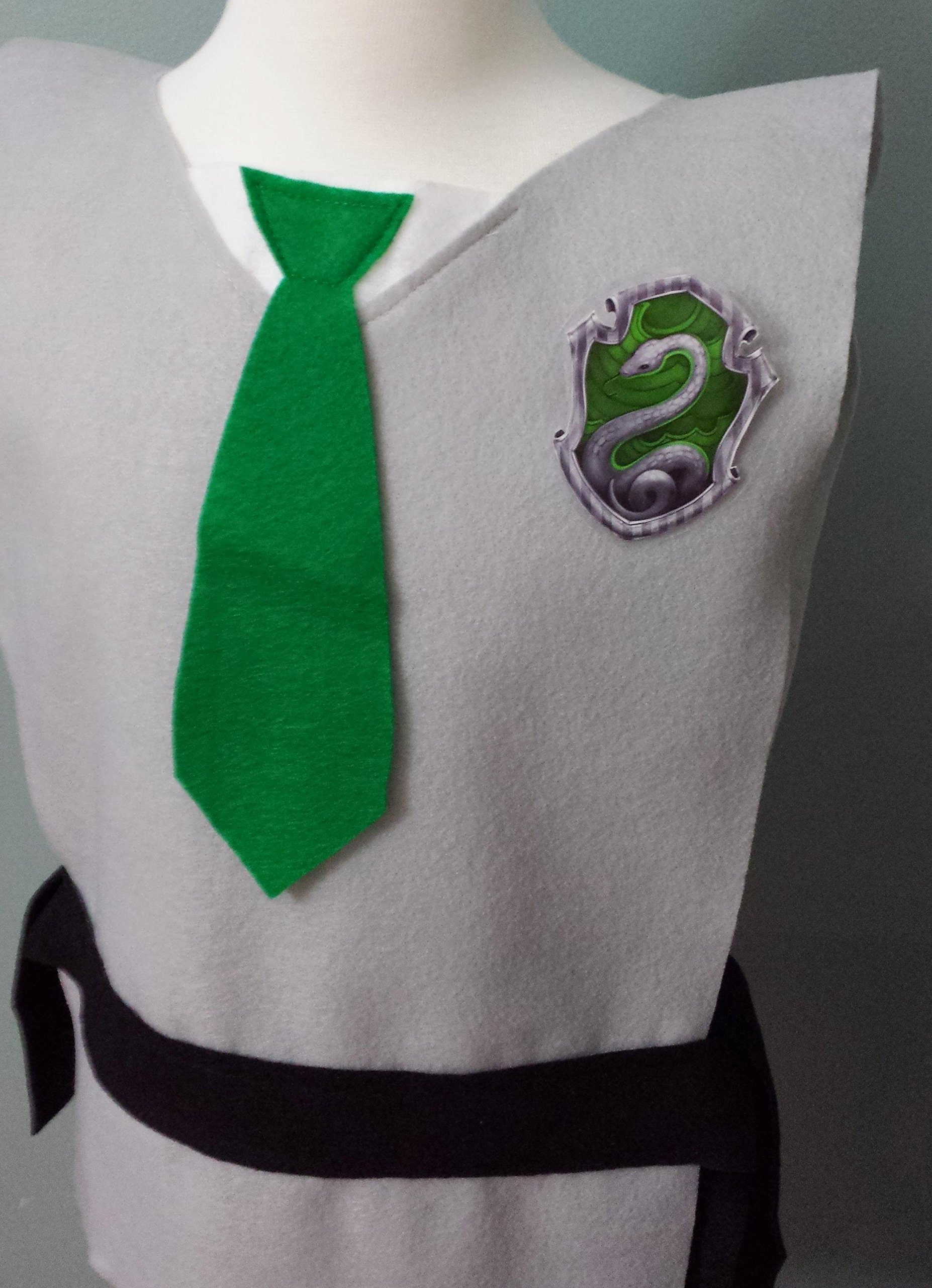 Kids Slytherin Costume Tunic - Perfect for under your robe! (Harry Potter/Draco Malfoy/Hogwarts) - Baby/Toddler/Kids/Teens/Adult Size