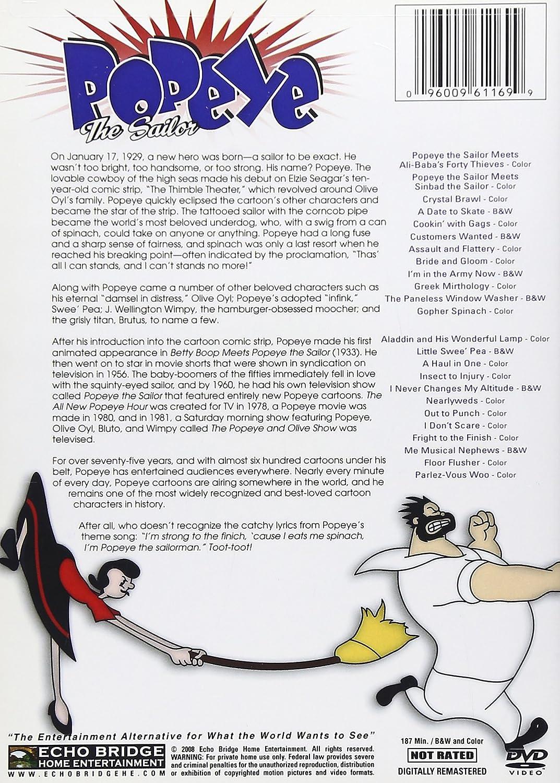 Amazon Com Popeye The Sailor 24 Classic Cartoons Animated 24