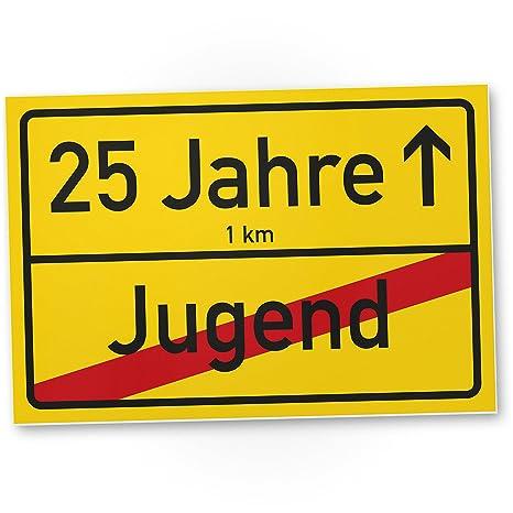Geschenk zum 28 GEBURTSTAG JUBILÄUM Ortsschild Geschenkidee Party Deko Karte