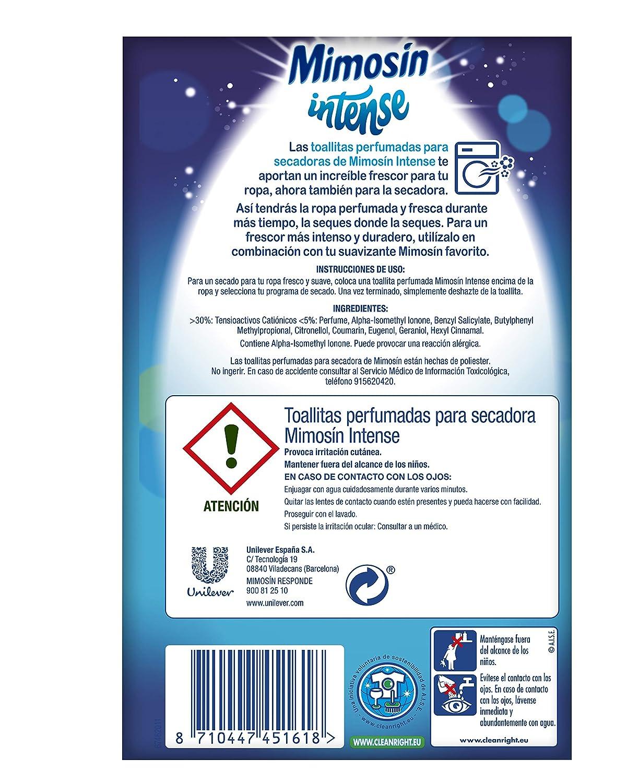 Mimosín Toallitas Perfumadoras para Secadoras - 9 Paquetes de 20 unidades: Amazon.es: Salud y cuidado personal
