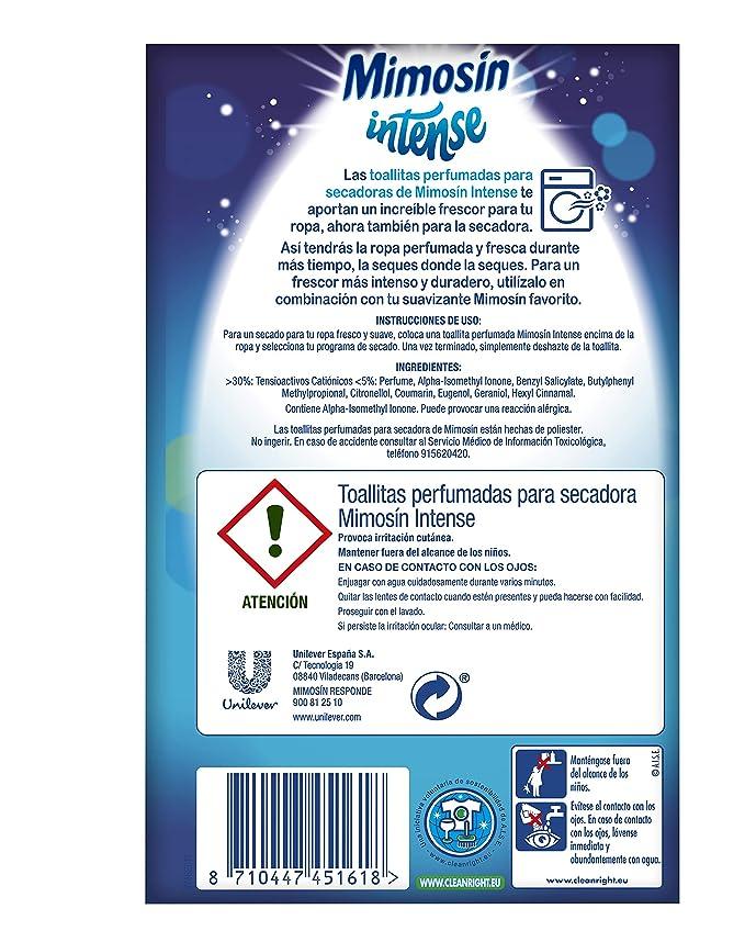 Mimosín Toallitas Perfumadoras para Lavadoras - 9 Paquetes de 20 unidades: Amazon.es: Salud y cuidado personal