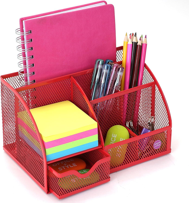 schwarz Mesh Schreibtisch Organizer 5/compartments