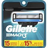 Gillette Mach3 Men's Razor Blade Refills, 15 Count (Packaging May Vary), Mens Razors / Blades