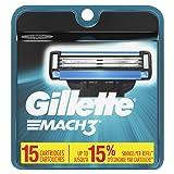 Gillette Mach3 Men's Razor Blades - 15 Refills (Packaging May Vary)