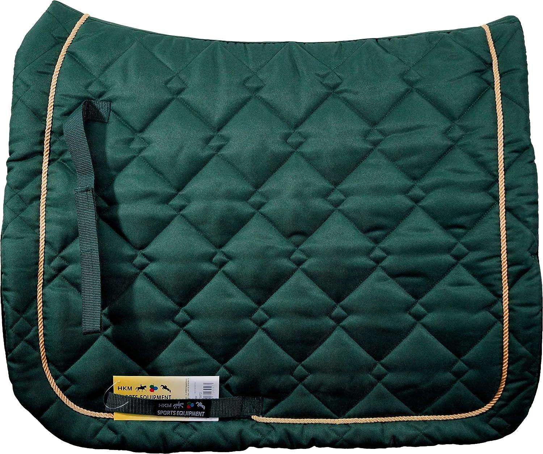 HKM 4000315717200 - Mantilla para Caballo, Color Verde y Dorado