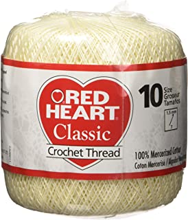 Coats Crochet Red Heart Classic Crochet, Thread Size 10, Cream