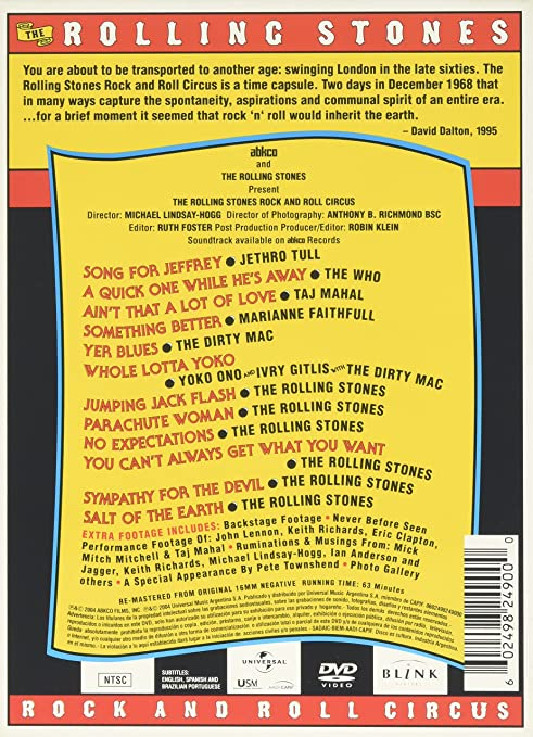 Amazon.com: ROLLING STONES THE ROCK AND ROLL CIRCUS: Rolling Stones ...