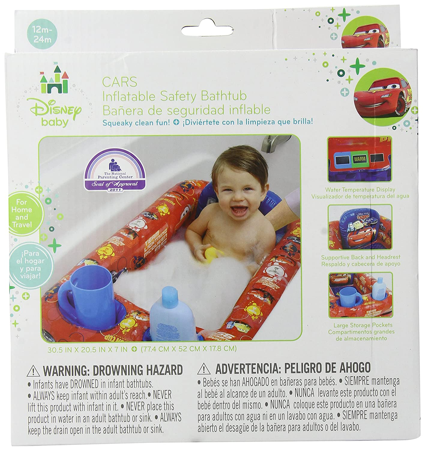 Disney Cars Inflatable Safety Bathtub, Red: Amazon.co.uk: Baby
