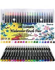 Pennarelli 20pz Art Supplies pennello per acquerelli penne per schizzi da colorare libri DIY Bullet Gazzetta calligrafia pittura con 1acqua pennello con punta in feltro