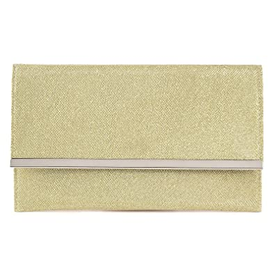 Surepromise Ladies Sparkling Dazzling Sequins Clutch Bag Purse Handbag Evening Party bag