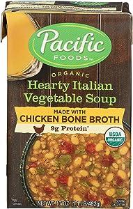 Pacific Foods Organic Bone Broth Hearty Italian Vegetable Soup, 17 oz