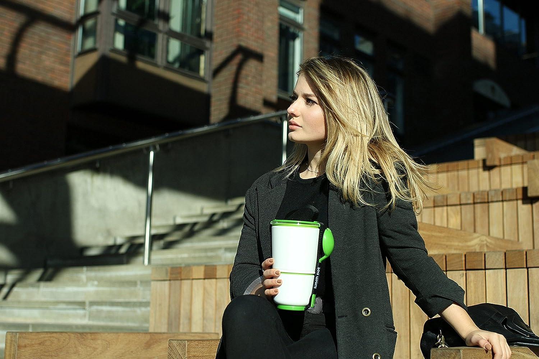 Black+blum Fiambreras apilables 2 Unidades Color Verde