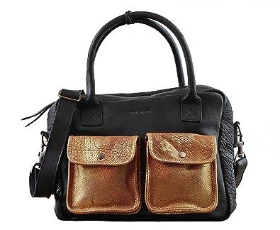 LE DANDY Bleu Encre sac bandoulière cuir de buffle pleine fleur style vintage PAUL MARIUS kepgvQ