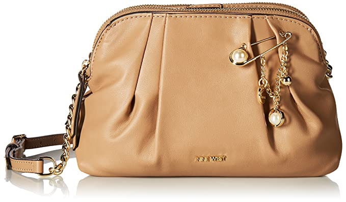 Nine West Lorenza Crossbody, Dark Wheat: Amazon ca: Clothing