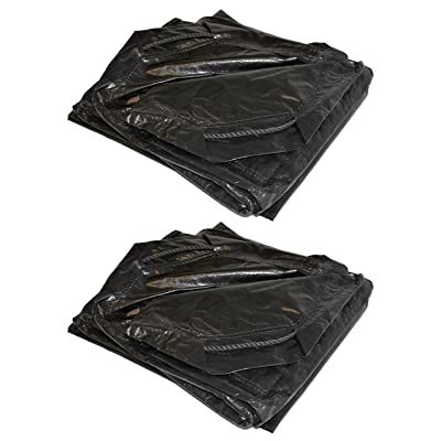 Foremost Dry Top 50066 6 ft x 6 ft Black Drawstring 7 Mil Poly Tarp - Pack of 2
