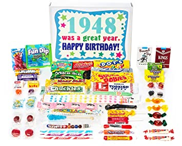 Woodstock Candy 1948 71st Birthday Gift Box Nostalgic Retro Mix From Childhood For 71