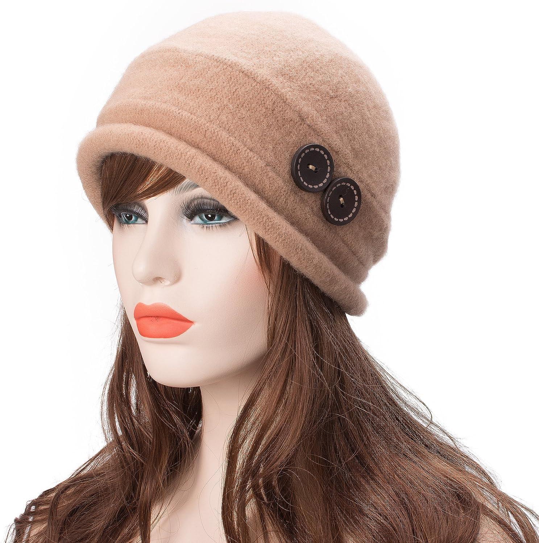 elegante e caldo berretto per l/'inverno Lawliet Cappello cloche da donna vintage