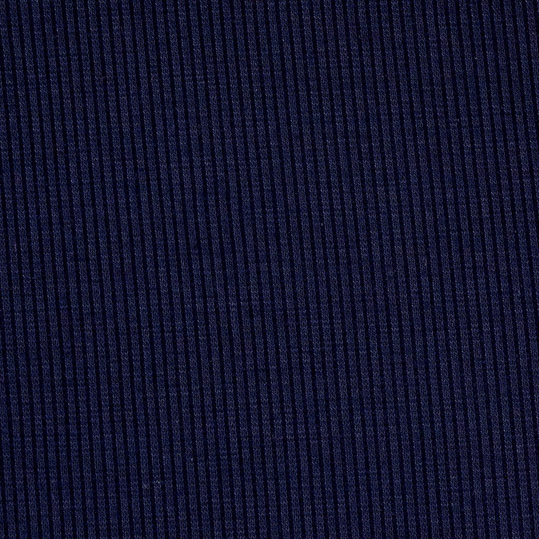 Lavitex 2X1 Rib Knit Navy Fabric by The Yard,