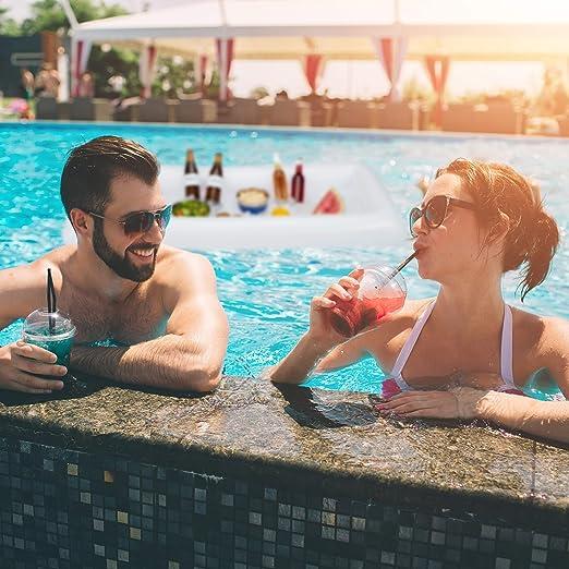 Relaxdays Bar Hinchable, Colchoneta Bebidas, Beer Pong Mesa ...