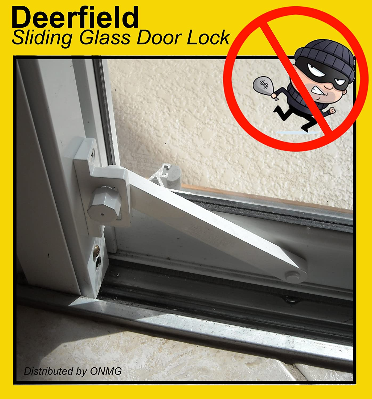 Lockit Double Bolt Sliding Glass Door Lock - Deerfield sliding glass door deadbolt lock aluminum frame white door dead bolts amazon com