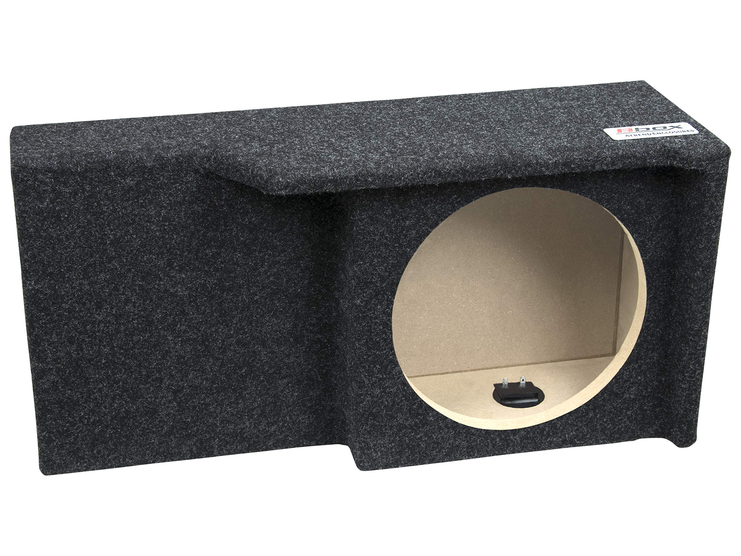 Bbox A371-10CP Single 10'' Sealed Carpeted Subwoofer Enclosure - Fits 2004-2008 Ford F150 Super Crew/Super Cab