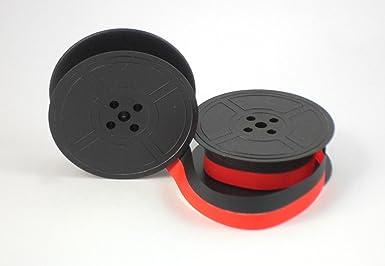 Cinta de tinta para bobina de máquina de escribir Royal Typewriter GR9 1009FN. Colores rojo y negro.: Amazon.es: Industria, empresas y ciencia