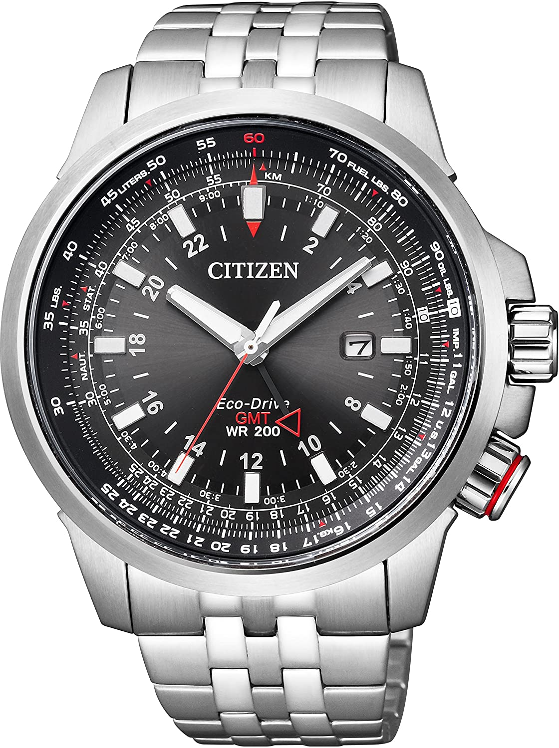 216be5aa0263 Amazon.com  Citizen Promaster Global Sky Eco-Drive World Time Pilot  Multi-Function Model Men Watch BJ7071-54E  Watches