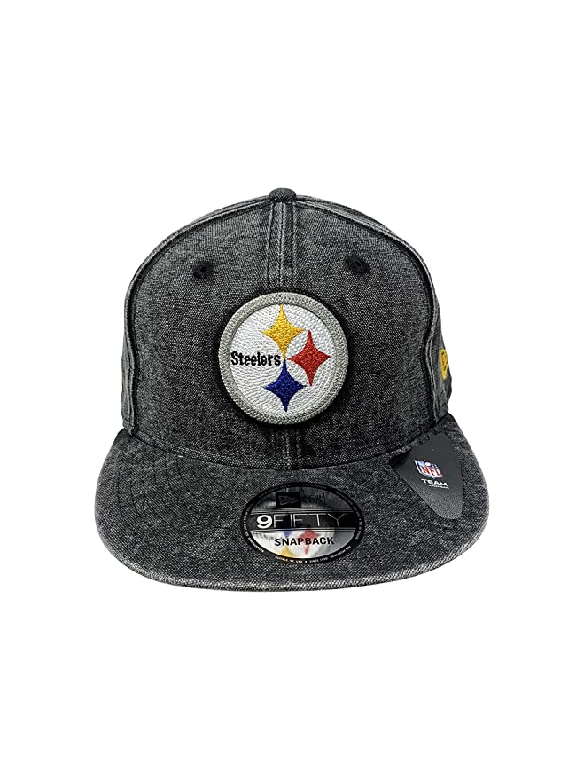c52634cd2 Amazon.com: New Era Pittsburgh Steelers Fitted Hat NFL Caps (Grey ...