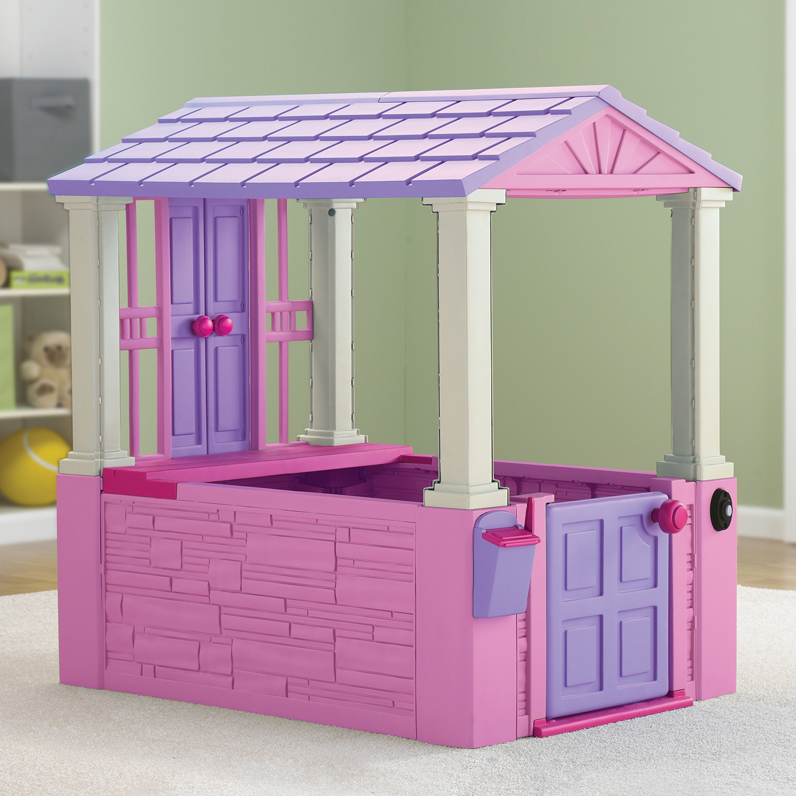 American Plastic Toys My Very Own Dream Cottage Interactive Playhouse for Kids, Pink by American Plastic Toys (Image #2)
