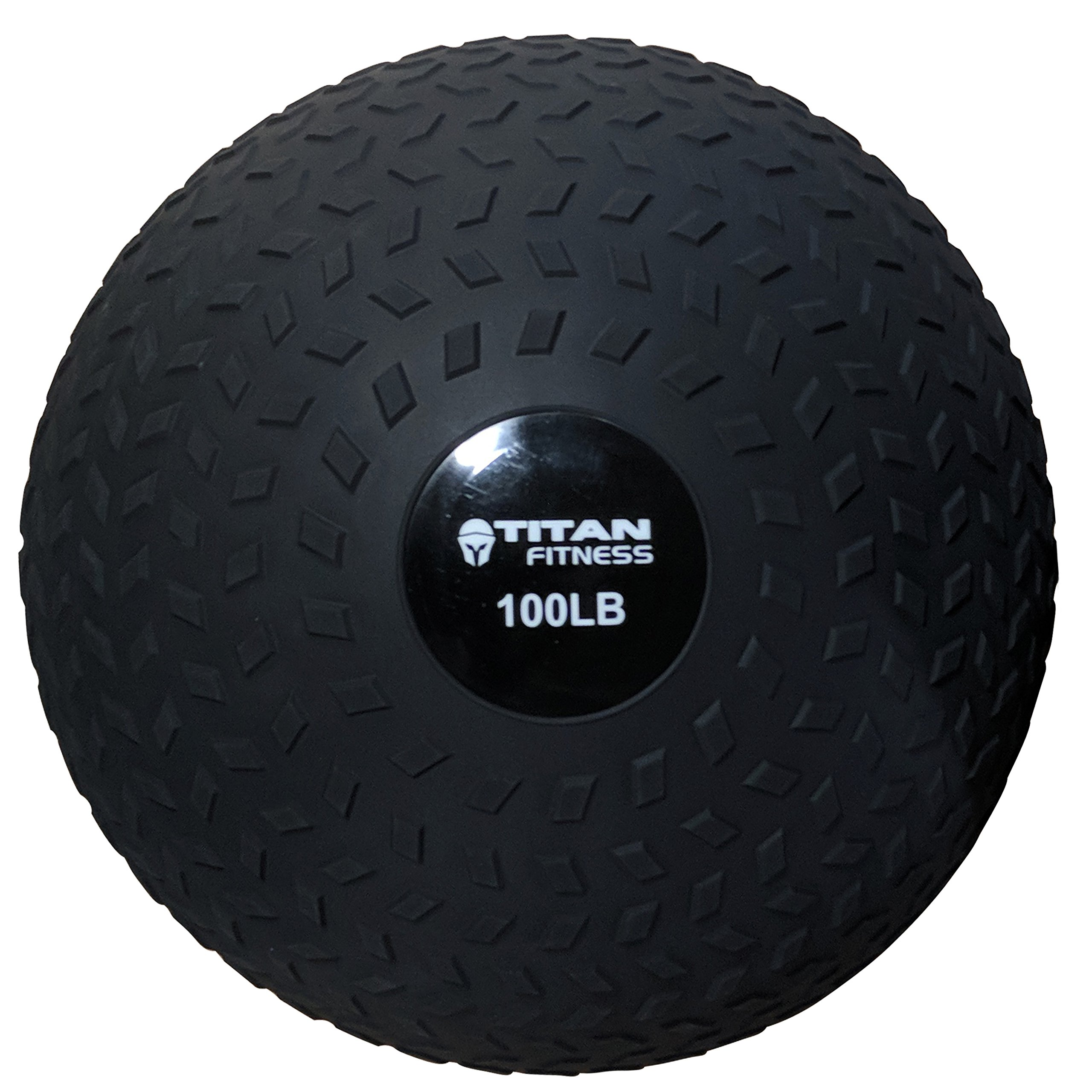TITAN FITNESS 100LB Slam Spike Ball Rubber Exercise Weight Workout