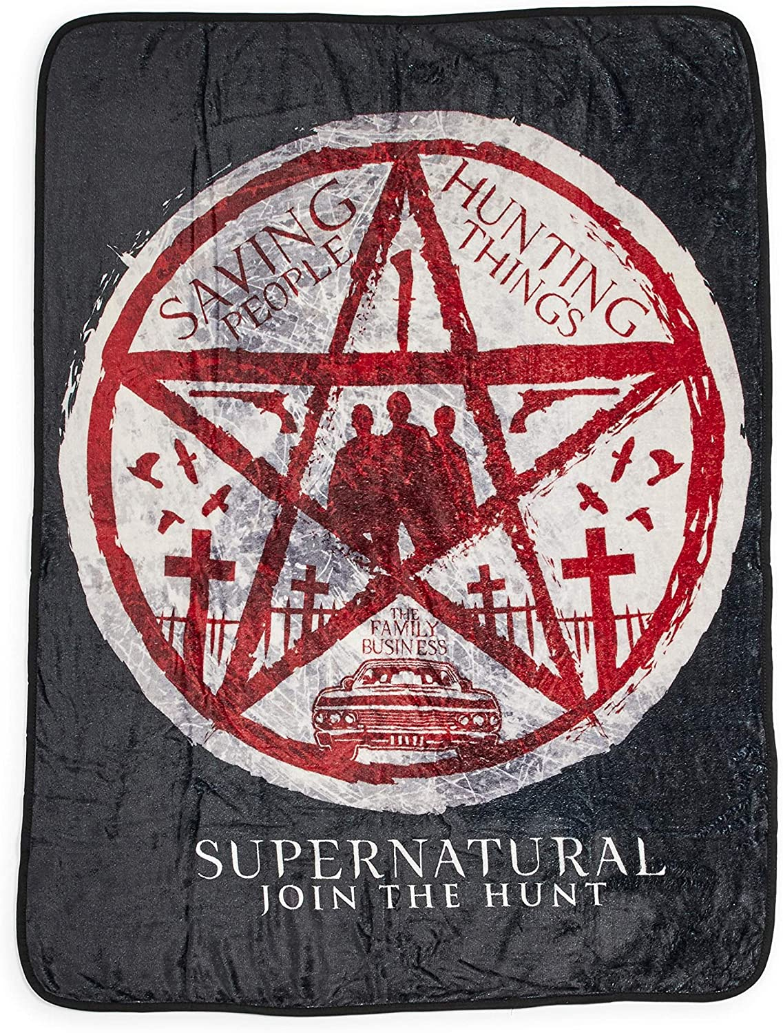 Official Supernatural Fleece Throw Blanket