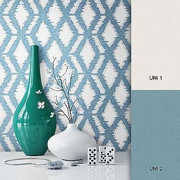 Skandinavische Tapeten newroom tapete türkis geometrisch muster grafik vliestapete vlies