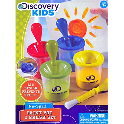 Discovery Kids No-Spill Paint Pot & Brush Set: Toys & Games