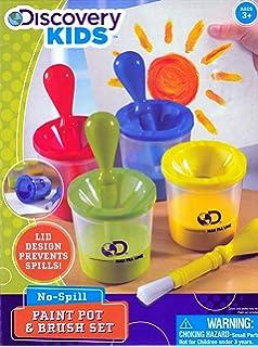 Discovery Kids No Spill Paint Pot Brush Set