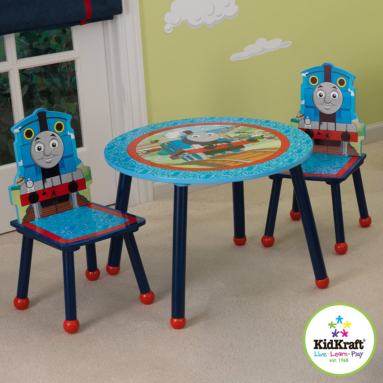 Amazon.com KidKraft Thomas And Friends Table And Chair Set Toys \\u0026 Games : train set table for kids - pezcame.com