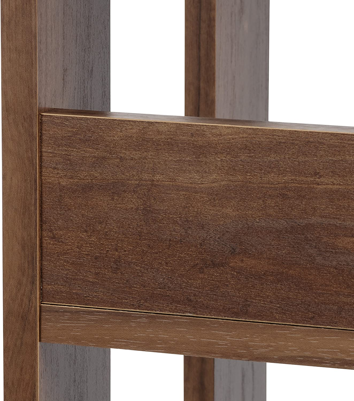 Movian B/ücherregal // Holzregal mit 3 F/ächern L20 x B29,3 x H87,9 cm Eiche dunkel Open Wood Rack OWR-200 Brand